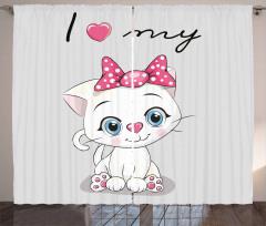 Cute Cartoon Cat Pet Curtain