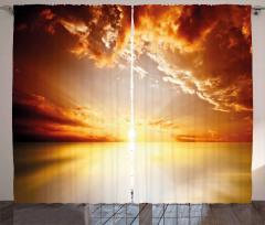 Tranquil Sunset Horizon Curtain
