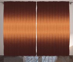 Mosaic Grid Design Curtain