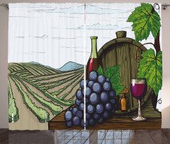 Views of Vineyards Grapes Curtain