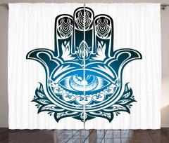 Evil Eye Hand of Fatima Curtain
