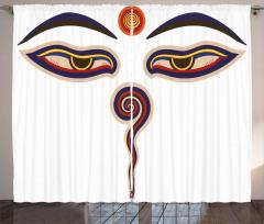 Spiritual Asian Religious Curtain