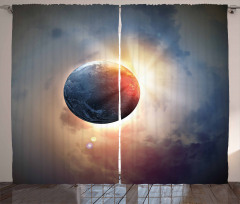 Day's Circle Planet Sun Curtain