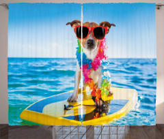 Dog in the Ocean Curtain