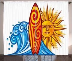 Ocean Wave Sun Curtain