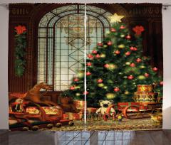 Magical Xmas Tree Curtain