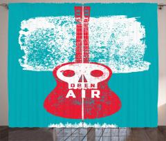 Open Air Festival Guitar Curtain