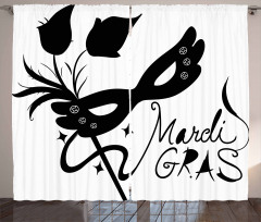 Classic Mask Flowers Curtain