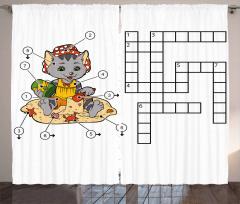Crossword Curtain