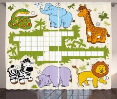 Wild Safari Curtain