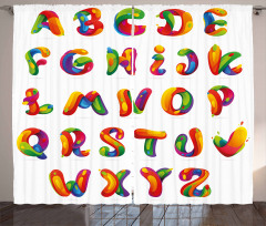 Artistic Letters Curtain