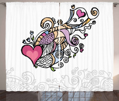 Flying Heart Waving Love Curtain