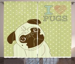 Cute Tilted Head Dog Funny Curtain
