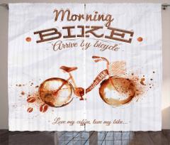 Bike Love Passion Curtain