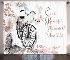 Soft Color Palette Bike Curtain