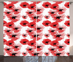 Poppies Vibrant Colors Curtain