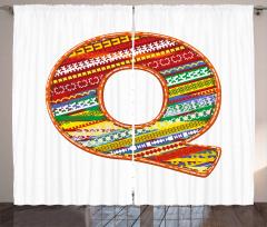 Retro Ethnic Colorful Curtain