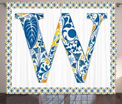 Floral ABC Theme Curtain