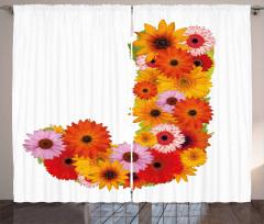 Saesonal Floral Vivid Curtain