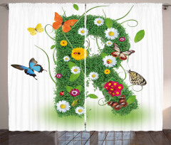 Flora and Fauna R Curtain