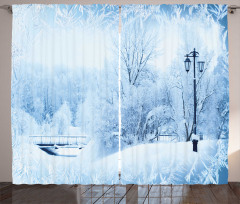 Wonderland Xmas Holiday Curtain