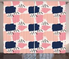 Pastel Art Pattern Curtain