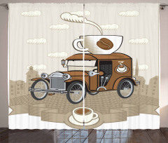 Old Fashioned Ride Coffee Curtain