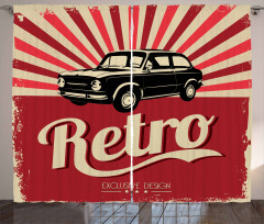 Retro Poster Style Vehicle Curtain