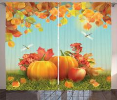 Fall Season Yield Leaf Curtain