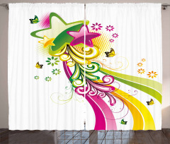 Vibrant Shooting Stars Curtain