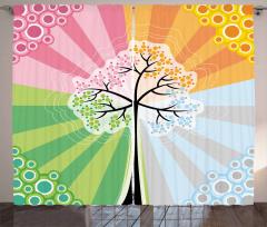 Four Seasons of Year Curtain