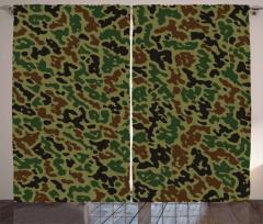 Green Forest Motif Curtain