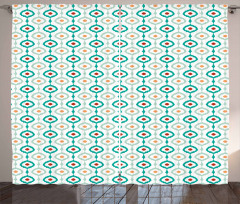 Colorful Chain Pattern Curtain