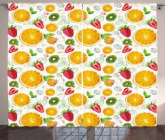 Fresh Citrus Kiwi Lemon Curtain