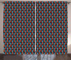 Abstract Half Circles Curtain