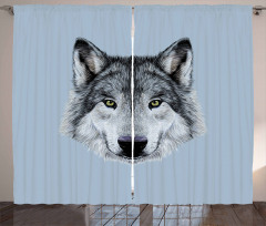 Detailed Canine Expression Curtain