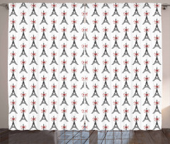 Towers Bowties Sketch Curtain