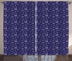 Underwater Sea Shells Curtain