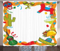 Cartoon Party Items Curtain