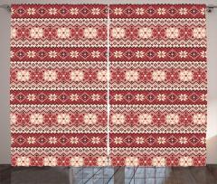 Scandinavian Xmas Snow Curtain