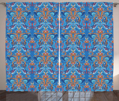 Abstract Floral Ornaments Curtain