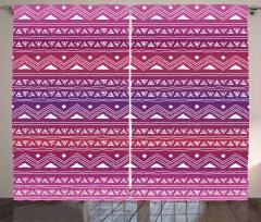 Geometric Ethnic Ombre Curtain