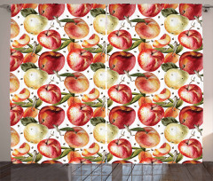 Watercolor Tasty Apples Curtain