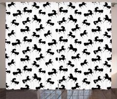 Monochrome Farm Animal Curtain