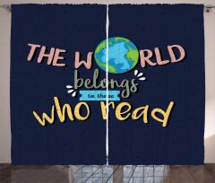World Belongs to Readers Curtain