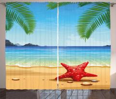 Starfish Ornate Design Curtain