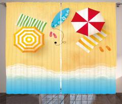 Beach Waves Umbrella Curtain