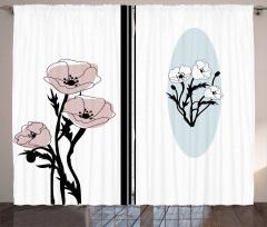 Artistic Pastel Florets Curtain