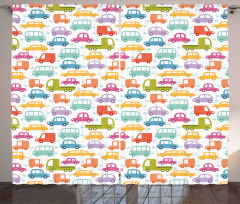 Colorful Lovely Drive Curtain