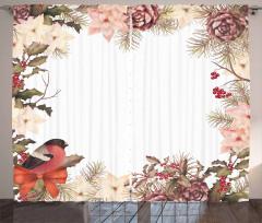 Bullfinch with Cedar Curtain